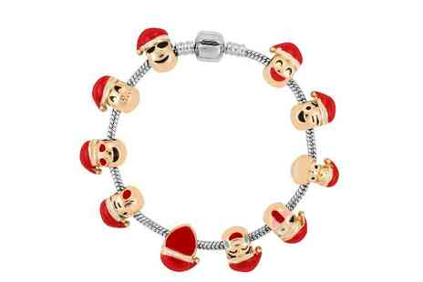 GameChanger Associates - Christmas santa emoji charm bracelet - Save 88%