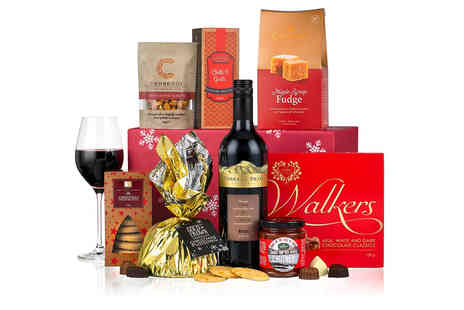 Virginia Hayward - Christmas Carol hamper tuck into festive treats including Christmas pudding, spiced biscuits and a bottle of Merlot - Save 0%