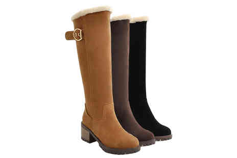 My Brand Logic - Pair of womens knee high snow boots choose your colour and size - Save 57%