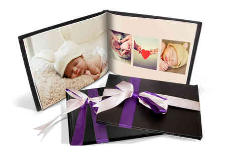 Printerpix - 20 page black leather photobook choose your option - Save 83%