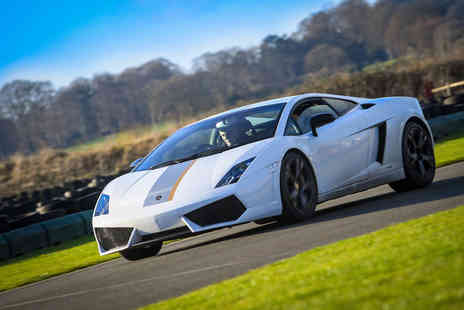 Supercar Test Drives - Three lap supercar Lamborghini or Ferrari experience on a weekday - Save 77%