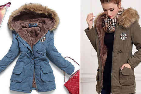J Star Direct - Faux Fur Lined Parka Coat Choose from 3 Sizes and 4 Colours - Save 75%