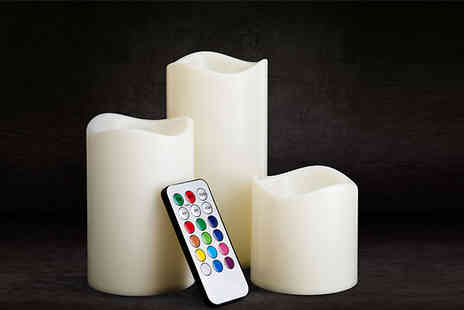 Home Season - Colour Changing Led Candles With Remote Control - Save 60%