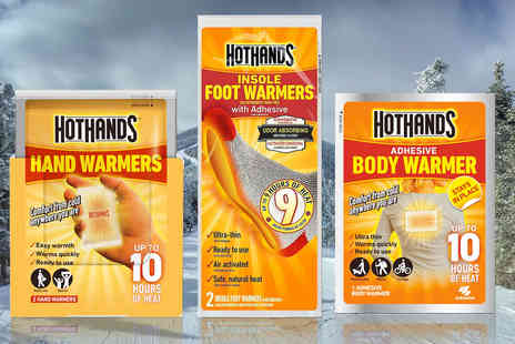Chemist - 12 pack of hand and foot Hot Hand warmers - Save 54%