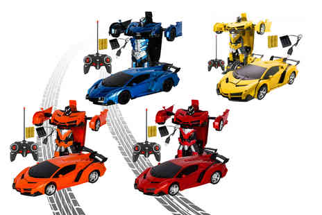 WowWhatWho - Transforming car toy choose your colour - Save 88%