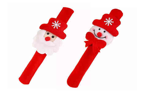 Gemnations - Snap On Christmas Led wristband choose between two designs - Save 80%