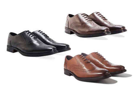 Redfoot - Pair of mens leather brogues - Save 83%