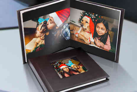 Printerpix - Square leather Lorenzo window cover photobook - Save 85%