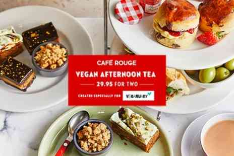 Cafe Rouge - Vegan Afternoon Tea for Two with Optional Vegan Baileys - Save 0%