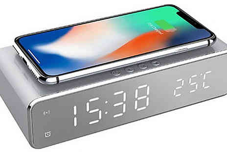Secret Plums - 2 in 1 Wireless Charging Alarm Clock - Save 55%
