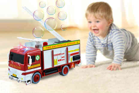 My Brand Logic - Bubble blowing fire engine truck - Save 57%