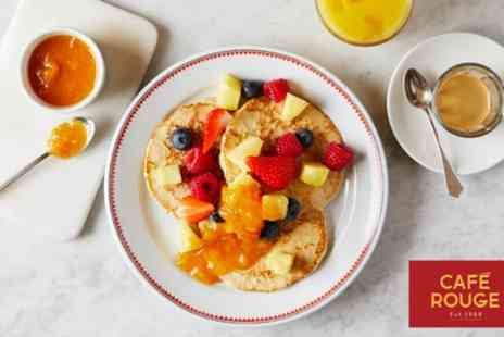 Cafe Rouge - Hot Breakfast with Hot Drink and Optional Cold Drink for Two - Save 30%