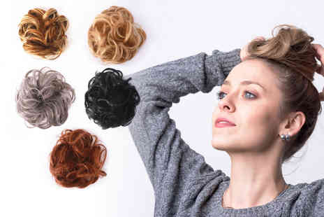 YelloGoods - Messy bun scrunchie hair extension - Save 79%