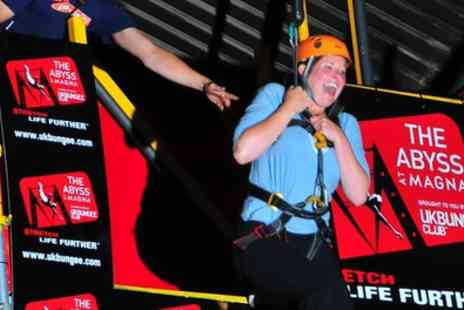 The Triple Whammy Experience at The Abyss - Participants will have to control their own descent to the ground after they climb the steps in Magnas 150ft Face of Steel building - Save 50%