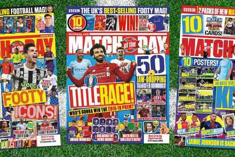 Immediate Media Company - Match of the Day Magazine 3 Month Subscription Fantastic For Footy Mad Fans - Save 29%