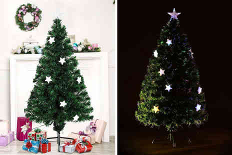 MH Star - Four foot fibre optic Christmas tree - Save 0%