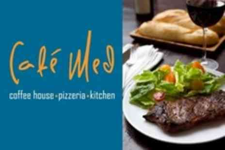 Cafe Med - Steak Dinner With Wine For Two - Save 52%