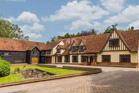 Great Hallingbury Manor - Overnight Bishops Stortford getaway for two people with three course dinner, bottle of house wine and breakfast - Save 58%