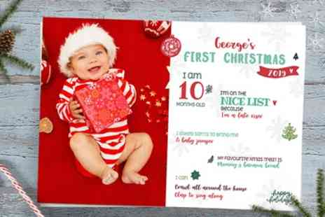 Moments Atelier - My First Christmas Personalised A4 Baby Poster - Save 50%