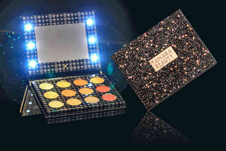 Litnfleek - 12 colour eyeshadow palette with Led light up mirror choose your option - Save 85%