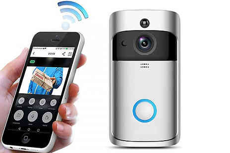 Secret Plums - 3 in 1 Smartphone Connected Video Doorbell With Intercom Choose from 2 Colours and Optional SD Card - Save 81%