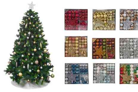 Groupon Goods Global GmbH - One or Two 45 Piece Bauble Sets with A Star - Save 50%