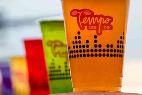 Tempo Tea Bar - Bubble Tea or Milkshake and Reusable Cork Bottle for Up to Four - Save 33%