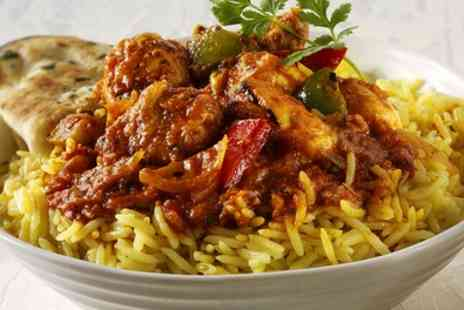 The City Spice - Two Course Indian Meal with Side for Two or Four - Save 34%