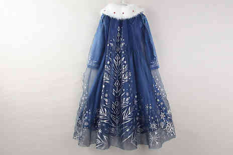 Secret Plums - Ice Princess Dress With Sparkling Cape Available in 6 Sizes - Save 68%