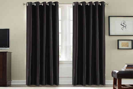 Groundlevel - Pair of thermal blackout curtains Choose from six sizes in nine gorgeous colours - Save 69%