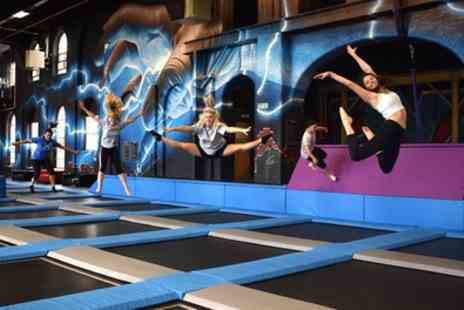 Ryze Glasgow - Two Hour Trampoline Session with Grip Socks - Save 47%