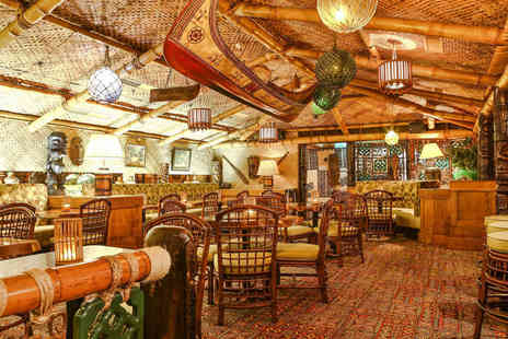 Trader Vics - Three course dinner for two with a cocktail each - Save 67%