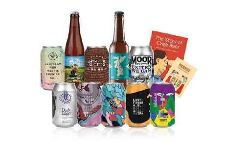 Beer 52 - Christmas craft beer hamper including a mix of 10 light and dark beers and snacks - Save 67%