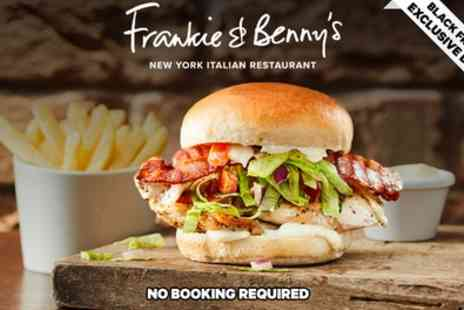Frankie and Bennys - Two Course A La Carte Meal for Two with Optional Wine to Share - Save 58%