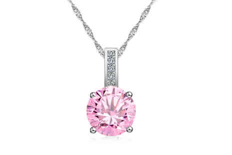 Your Ideal Gift - Pink crystal pendant - Save 83%