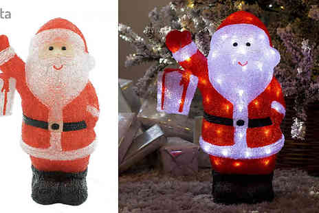 Garden & Camping - Led Light Up Acrylic Christmas Decoration Choose from 8 Styles - Save 44%