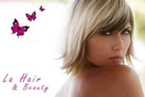 LA Hair and Beauty - Half Head Highlights or Full Head of Colour - Save 69%