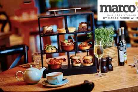 Marcos New York Italian - Italian Afternoon Tea with Optional Prosecco for Two - Save 34%