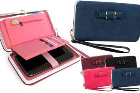 Groupon Goods Global GmbH - One or Two Bow Tie Phone Purses in Choice of Colour - Save 83%