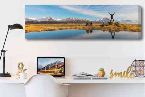 Deco Matters - 76 x 25cm personalised panoramic canvas - Save 86%