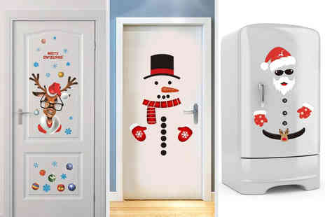 Flashing Pineapple - Christmas door sticker set choose from three designs - Save 75%