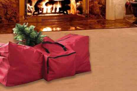 Groupon Goods Global GmbH - Christmas Tree Storage Bag with Side Pocket for Decorations - Save 69%