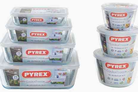 Groupon Goods Global GmbH - 6, 8 or 14 Piece Pyrex Glass Container Set - Save 42%