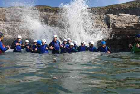 Jurassic Watersports - Three Hour Coasteering Experience with Video for Up to Four - Save 43%