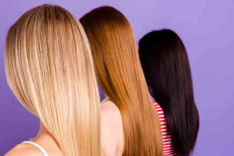 Scissorhands London - Organic full head of colour and Olaplex treatment with blow dry - Save 73%