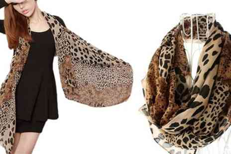 Groupon Goods Global GmbH - One or Two Leopard Printed Shawl Scarves - Save 70%