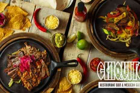 Chiquito - Two Course Tex Mex Meal for Two - Save 49%