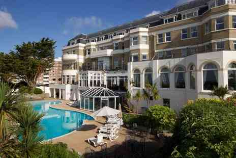Hallmark Hotel Bournemouth - Overnight seafront getaway for two people with two course dinner, drinks voucher, breakfast, leisure access and late check out - Save 27%