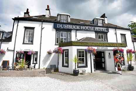 Dumbuck House Hotel - One night Dumbarton, Loch Lomond escape with two course dining, bottle of wine, late checkout and breakfast for two - Save 43%