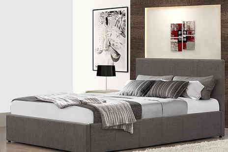FTA Furnishing - Fabric ottoman storage bed choose from four sizes - Save 67%